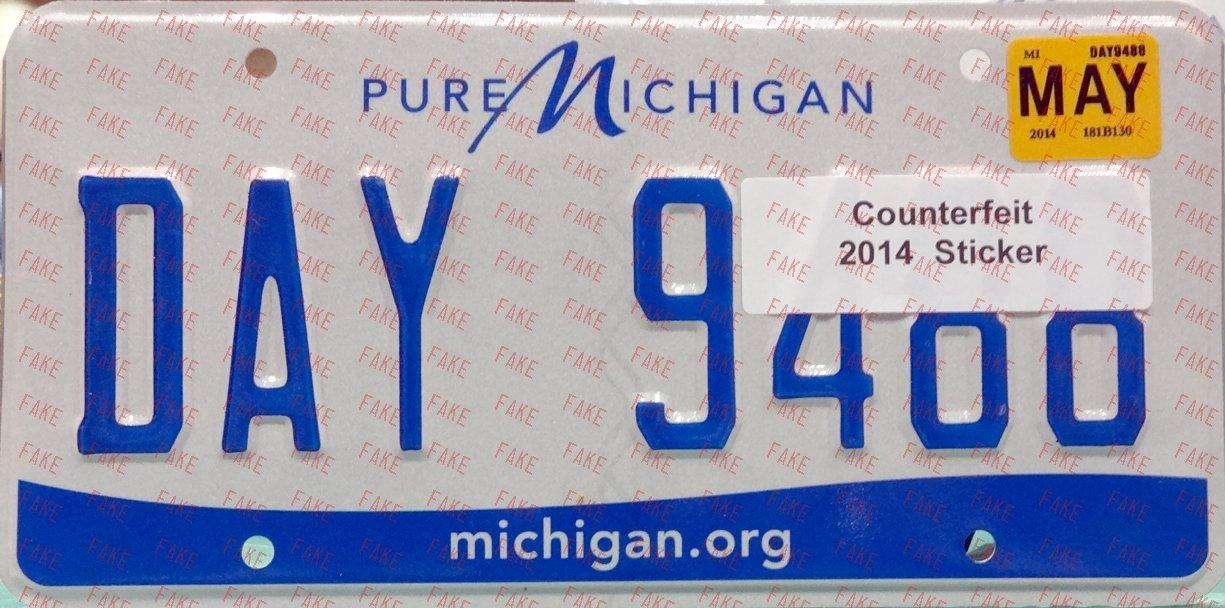 Deceptive and Misleading Plates - Michigan - ALPCA Archives
